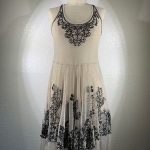 NWT Johnny Was Mesh Dress Sz S